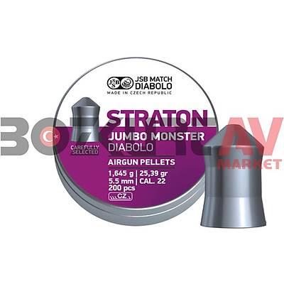 JSB Diabolo Straton Jumbo Monster 5,51 mm Havalý Tüfek Saçmasý (25,39 Grain - 200 Adet)