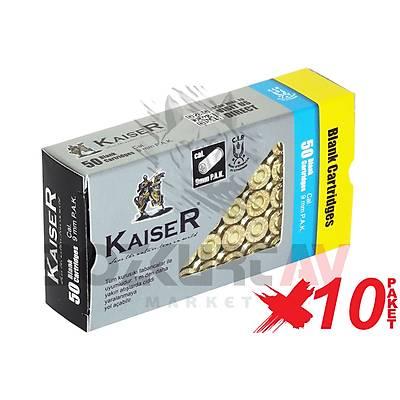 Kaiser Gold 9 mm 10 Paket Kurusýký Tabanca Mermisi