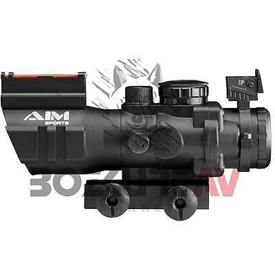 Aimsports Tactical 4x32 RGB Weaver Hedef Noktalayýcý Red Dot Sight