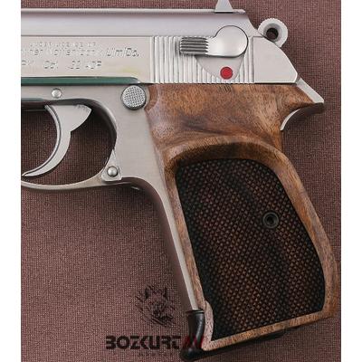 Walther PPK Parmak Ýzli Ceviz Tabanca Kabzasý