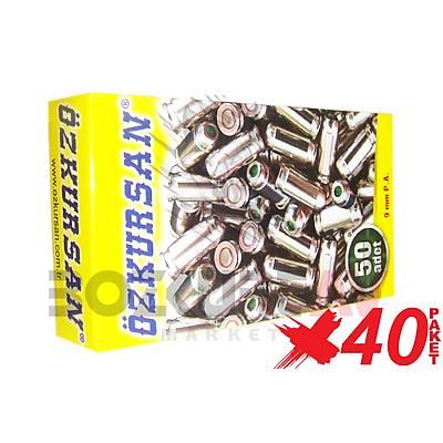 Özkursan Beyaz 9 mm 40 Paket Kurusýký Tabanca Mermisi