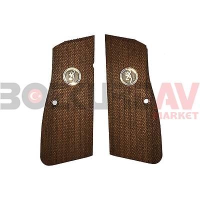 Browning HP 9 mm KSD Logolu  Ceviz Tabanca Kabzasý