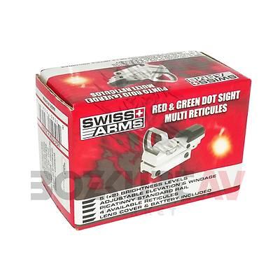 Cybergun Swiss Arms 1x22x33 Silver Weaver Hedef Noktalayýcý Red Dot Sight