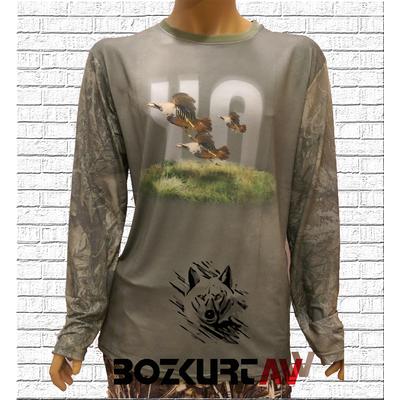 Yiðit Avcýlýk Keklik Desenli T-Shirt (Uzun Kollu)