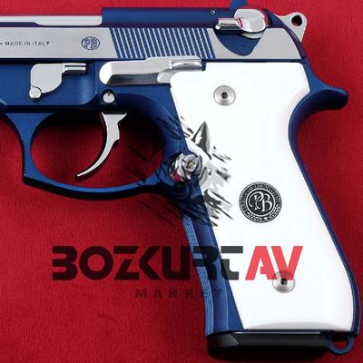 Beretta 92 FS 9 mm Beyaz Pleksi Tabanca Kabzasý