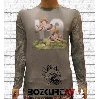 Yiðit Avcýlýk Üveyik Desenli T-Shirt (Uzun Kollu)
