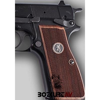 Browning HP 9 mm HP Logolu Ceviz Tabanca Kabzasý