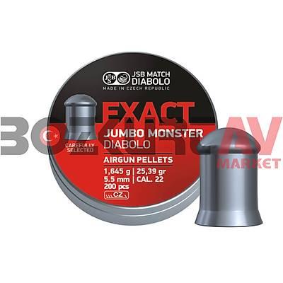 JSB Diabolo Exact Jumbo Monster 5,52 mm Havalý Tüfek Saçmasý (25,39 Grain - 200 Adet)