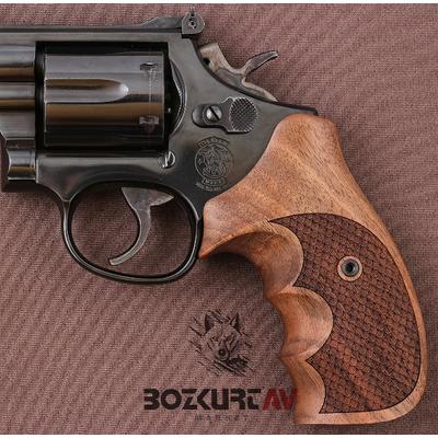 Smith & Wesson 44 Magnum Baklava Desen Tabanca Kabzasý