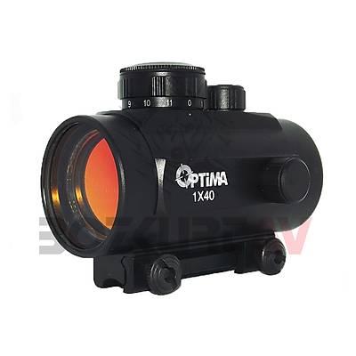 Optima 1x40 Hedef Noktalayýcý 11 mm Red-Dot Sight