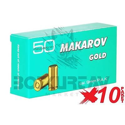 Makarov Gold 9 mm 10 Paket Kurusýký Tabanca Mermisi