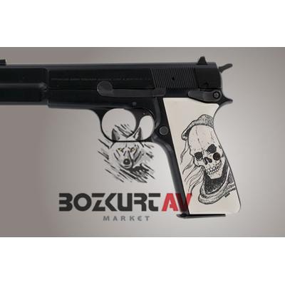 Hogue Browning Hi-Power Skull Polimer Kabza