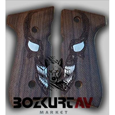 Beretta 92 FS 9 mm Özel Tasarým Kuru Kafa Tabanca Kabzasý