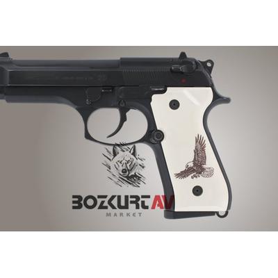 Hogue Beretta FS 92 Kartal Desen Polimer Kabza