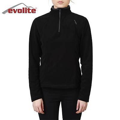 Evolite Fuga Bayan Mikro Polar Sweater - Siyah