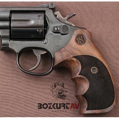 Smith & Wesson 357 Baklava Ceviz Tabanca Kabzasý