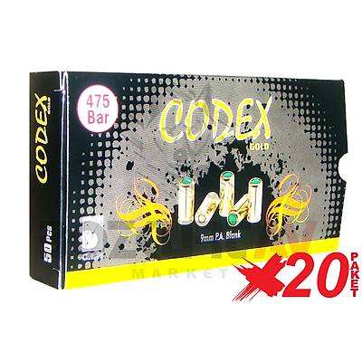 Özkursan Codex Gold 9 mm 20 Paket Kurusıkı Tabanca Mermisi