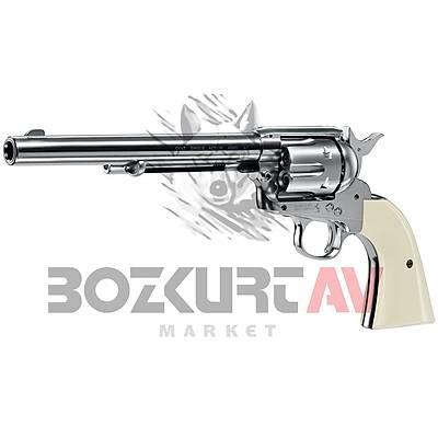 "Colt Single Action Army 45 Nickel 7,5"" Havalý Tabanca"
