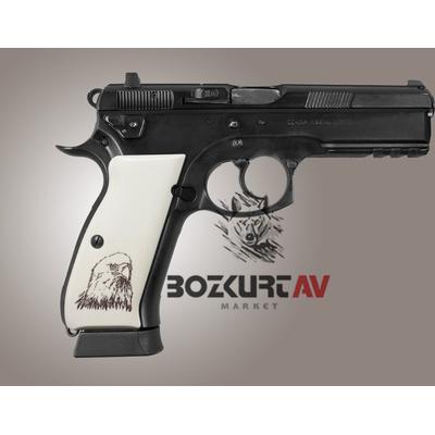 Hogue CZ-75 Kartal Desen Polimer Kabza