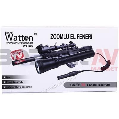 Watton WT-099 T6 Þarj Edilebilir El & Tüfek Feneri