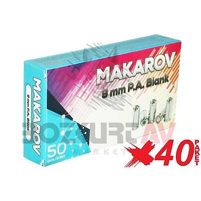 Makarov Iron 9 mm 40 Paket Kurusýký Tabanca Mermisi