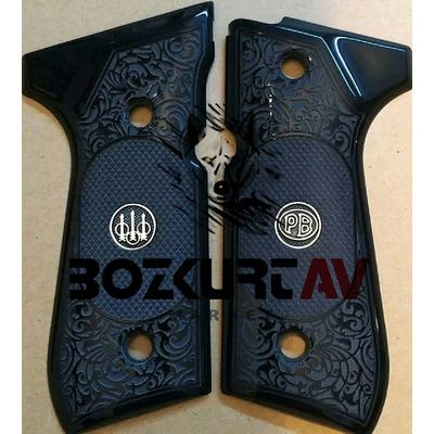 Beretta 92 FS 9 mm Siyah Pleksi / Logolu Tabanca Kabzasý