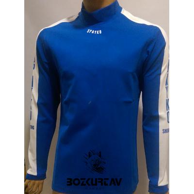 Spayko Mavi Beyaz Uzun Kollu Atýcý T-Shirt