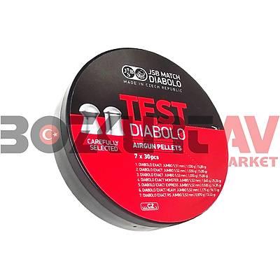 JSB Diabolo 5,5 mm Havalý Tüfek Saçmasý Test Seti (210 Adet)
