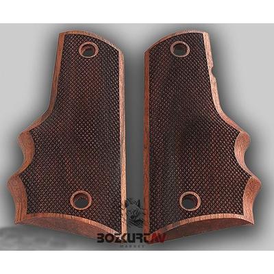 Colt 1911 Ortopedik-Parmaklý-Köþeli Ceviz Tabanca Kabzasý