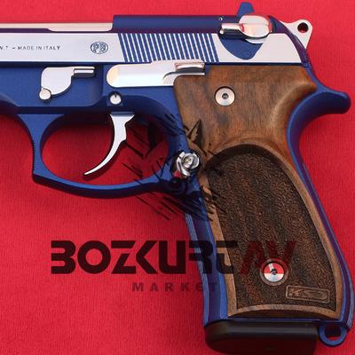 Beretta 92 FS 9 mm Parmak Ýzli Ceviz Tabanca Kabzasý