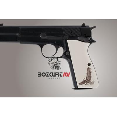 Hogue Browning Hi-Power Kartal Desen Polimer Kabza