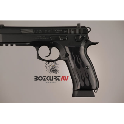 Hogue CZ-75 Alev Desen Alüminyum Kabza