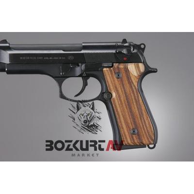 Hogue Beretta F92 Damalý Ahþap Kabza