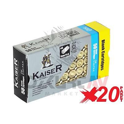 Kaiser Gold 9 mm 20 Paket Kurusýký Tabanca Mermisi