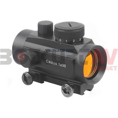 Vector Optics Cactus 1x35 Dovetail Hedef Noktalayýcý Red Dot Sight