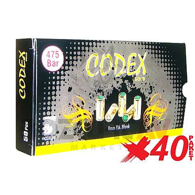 Özkursan Codex Gold 9 mm 40 Paket Kurusıkı Tabanca Mermisi