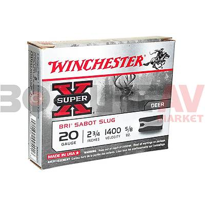 Winchester Super X BRI Sabot Slug 20 Kalibre Tek Kurþun