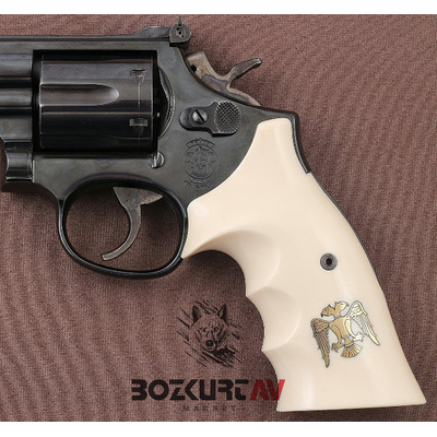 Smith & Wesson 357 Roundbutt Fildiþi Rengi Tabanca Kabzasý