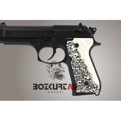 Hogue Beretta FS 92 Skull-2  Polimer Kabza