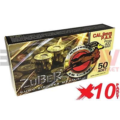 Zuber 9 mm 10 Paket Kurusýký Tabanca Mermisi
