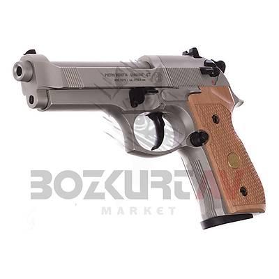 Beretta M 92 FS Nickel Wood Havalý Tabanca