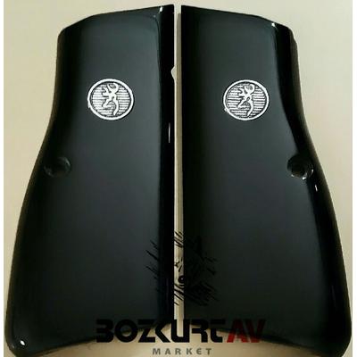 Browning HP 9 mm Siyah Pleksi-Gümüþ Logolu Tabanca Kabzasý