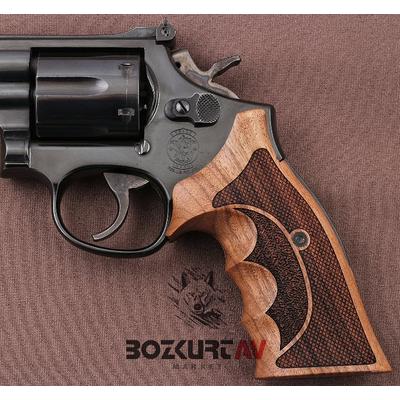 Smith & Wesson 357 Roundbutt (Yarým Açýk) Ceviz Tabanca Kabzasý