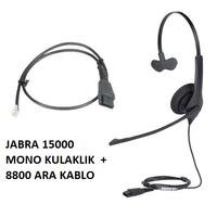 Jabra BIZ 1500 Mono QD NC Mikrofonlu Telefon Kulaklýðý+8800 kablo