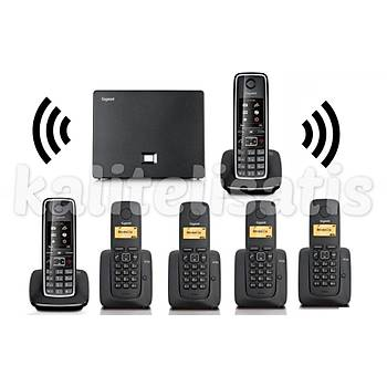 Gigaset Analog & IP 6 Dahili Dect Telsiz Kablosuz Telefon Santrali