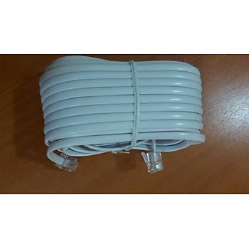 10 Metre 2Ucu Plug RJ11 Telefon Köken Kablo