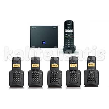 Gigaset Analog &IP 6 Dahili Dect Telsiz Kablosuz Telefon Santrali AS690