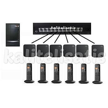 Fortel Z308 3 Harici 6 Dahili PBX Gigaset C570 Kablosuz Telefon Santrali