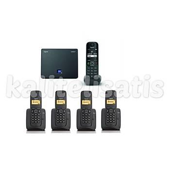 Gigaset Analog &IP 5 Dahili Dect Telsiz Kablosuz Telefon Santrali AS690