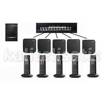 Fortel Z308 3 Harici 5 Dahili PBX Gigaset C570 Kablosuz Telefon Santrali